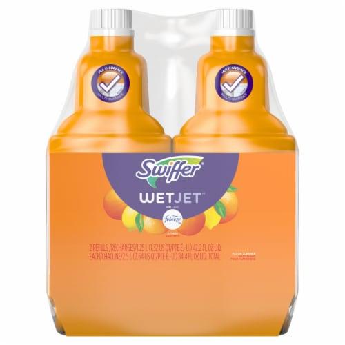 Swiffer WetJet with Febreze Sweet Citrus and Zest Scent Antibacterial Cleaner Perspective: front