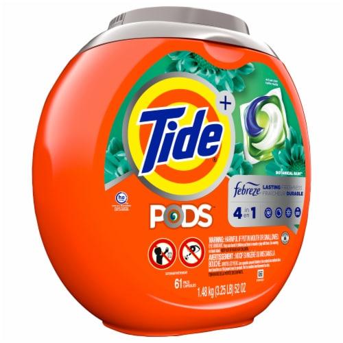 Tide Pods + Febreze Botanical Rain Laundry Detergent Pacs Perspective: front