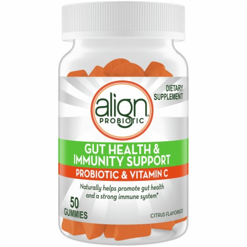 Align Gut Health & Immunity Support Probiotic & Vitamin C Gummies Perspective: front