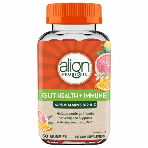 Align Gut Health & Immunity Support Probiotic & Vitamin C Gummies Perspective: front