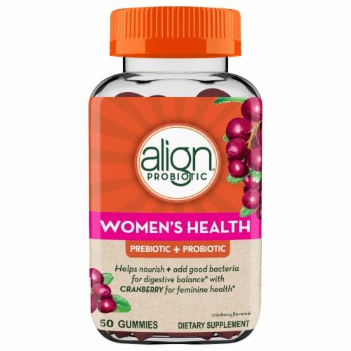 Align Women's Health Prebiotic + Probiotic Gummies Perspective: front