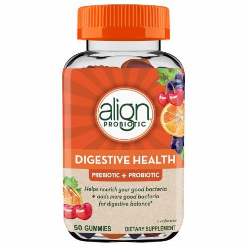 Align Digestive Health Prebiotic + Probiotic Gummies Perspective: front