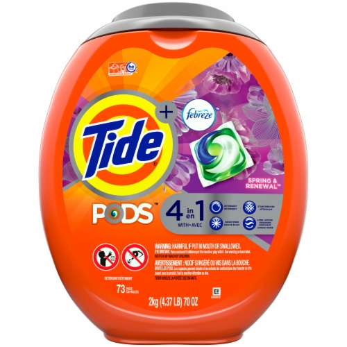 Tide Pods + Febreze Spring & Renewal Liquid Laundry Detergent Pacs Perspective: front