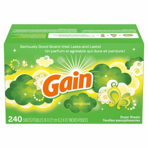 Gain Original Dryer Sheets Perspective: front
