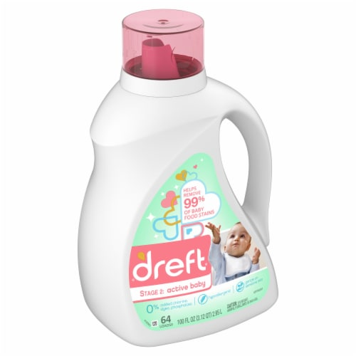 Dreft Stage 2: Active Baby Liquid Laundry Detergent Perspective: front