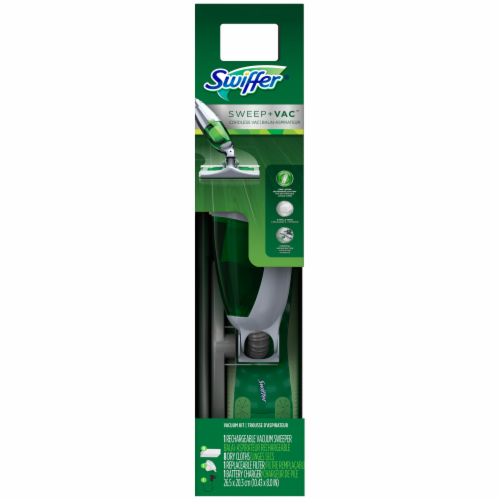 Swiffer® Sweep + Vac Cordless Rechargable Vacuum Starter Kit Perspective: front