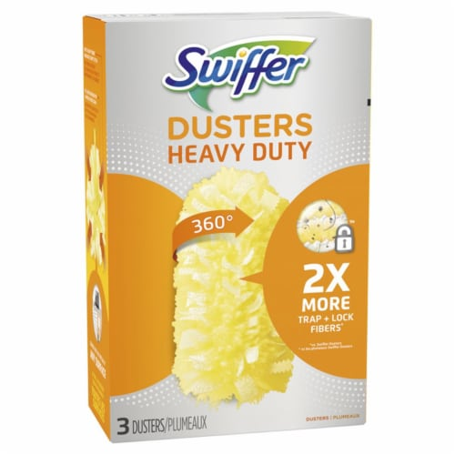Swiffer  Dusters  Fiber  Heavy Duty Duster Refill  3 pk - Case Of: 1; Each Pack Qty: 3; Total Perspective: front