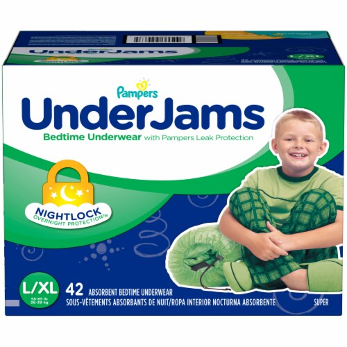 Pampers Under Jams Small/Medium Absorbent Bedtime Underwear 42 Count Perspective: front