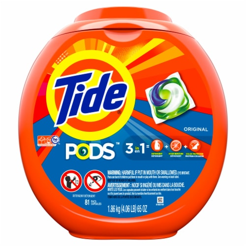 Tide PODS Original 3 in 1 Liquid Laundry Detergent Pacs Perspective: front
