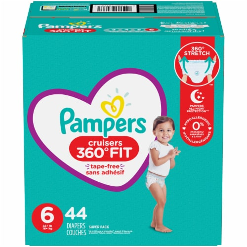 Pampers Cruisers 360 Fit Size 6 Diapers Perspective: front