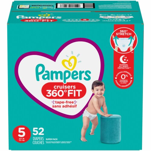 Pampers Cruisers 360 Fit Size 5 Baby Diapers Perspective: front