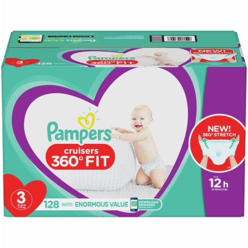 Pampers Cruisers 360 Fit Size 3 Diapers Perspective: front