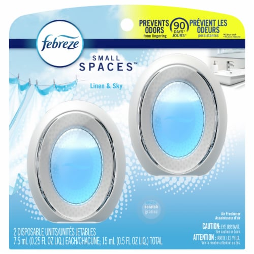 Febreze Small Spaces Linen & Sky Scented Air Fresheners Perspective: front