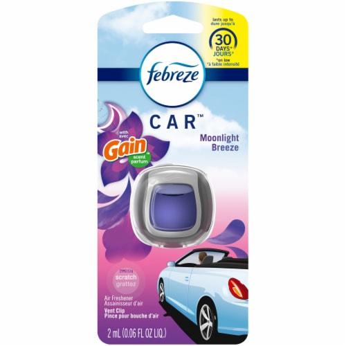 Febreze Car Gain Moonlight Breeze Scent Air Freshener Vent Clip Perspective: front