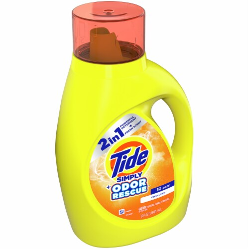 Tide Simply Odor Rescue Fresh Linen Liquid Laundry Detergent Perspective: front