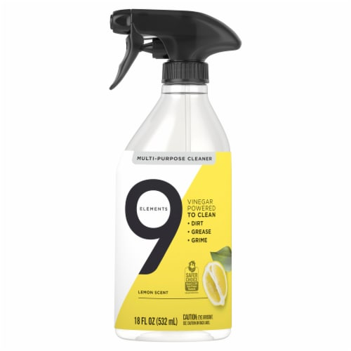 9 Elements Lemon Multi-Purpose Cleaner Spray Perspective: front