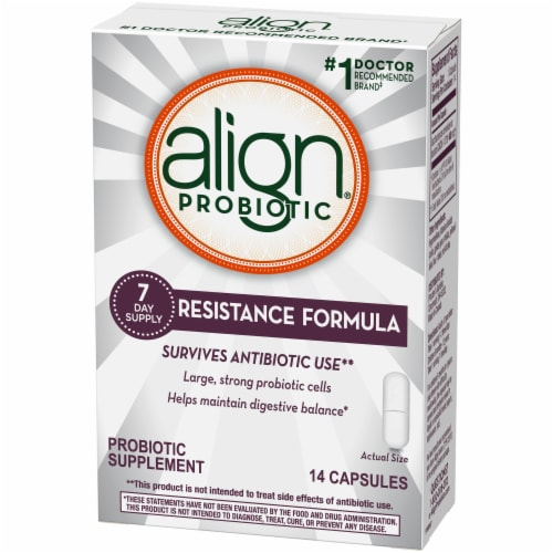 Align Resistance Formula Probiotic Supplement Capsules Perspective: front