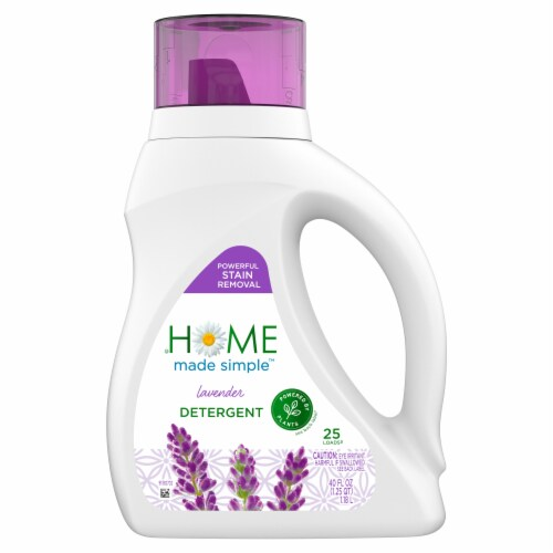 Home Made Simple Lavender Liquid Laundry Detergent Perspective: front