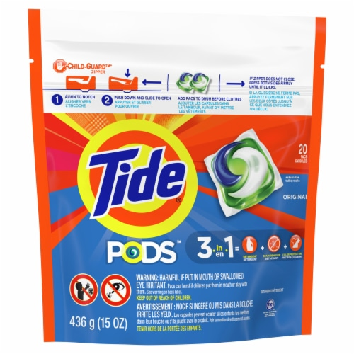 Tide PODS 3 in 1 Original Laundry Detergent Pacs Perspective: front