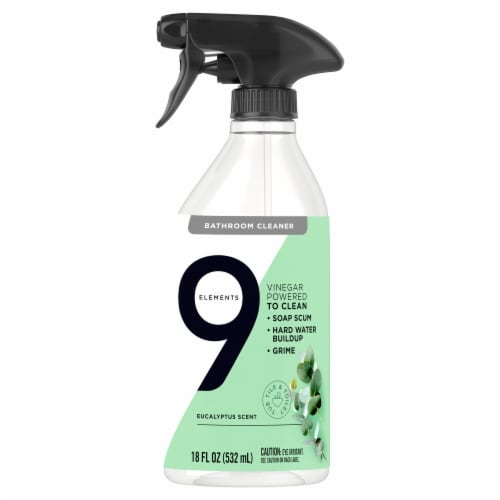 9 Elements Eucalyptus Bathroom Cleaner Spray Perspective: front