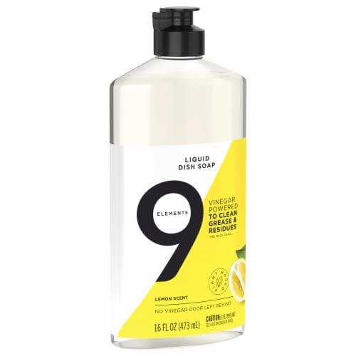 9 Elements Lemon Liquid Dish Soap Perspective: front