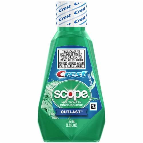 Crest Scope Outlast Mouthwash Perspective: front
