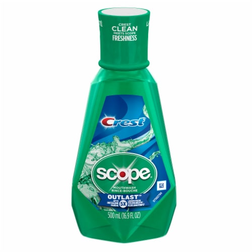 Crest Scope Outlast Mouthwash Long Lasting Mint Perspective: front