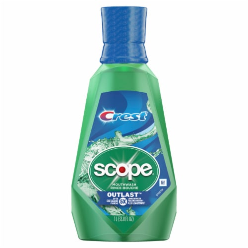 Crest Scope Outlast Mouthwash Long Lasting Mint Perspective: front