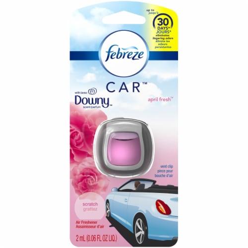 Febreze Car Downy April Fresh Scent Air Freshener Vent Clip Perspective: front