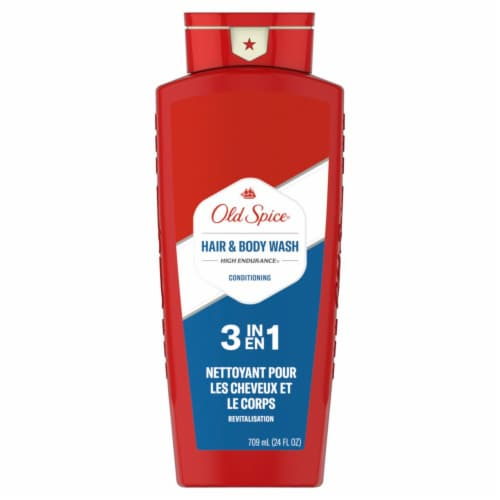 Old Spice High Endurance Hair & Body Wash Conditioner for Men Perspective: front