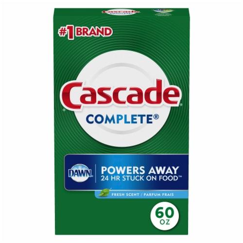 Cascade Complete Fresh Scent Dishwasher Detergent Powder Perspective: front