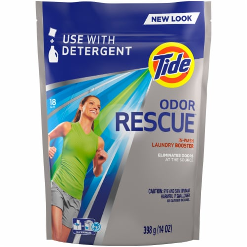 Tide Odor Rescue In-Wash Laundry Scent Booster Pacs Perspective: front