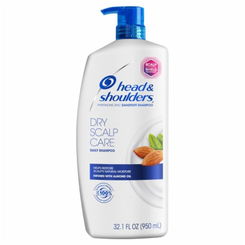 Head and Shoulders Dry Scalp Care Daily-Use Anti-Dandruff Paraben Free Shampoo Perspective: front