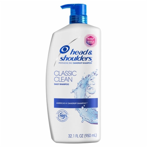 Head and Shoulders Classic Clean Daily-Use Anti-Dandruff Paraben Free Shampoo Perspective: front