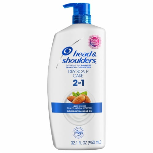 Head and Shoulders  Scalp Care w/Almond Oil 2-in-1 Anti-Dandruff Paraben Free Shampoo + Conditioner Perspective: front