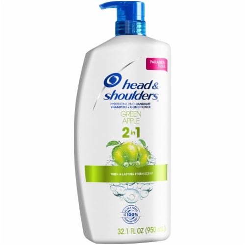 Head & Shoulders Green Apple Anti-Dandruff 2 in 1 Shampoo + Conditioner Perspective: front