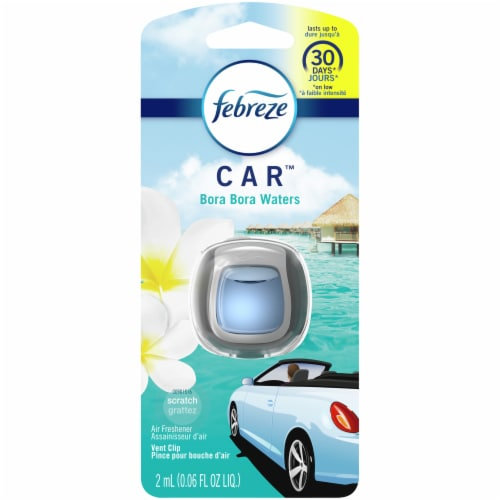 Febreze Car Bora Bora Waters Air Freshener Car Vent Clip Perspective: front
