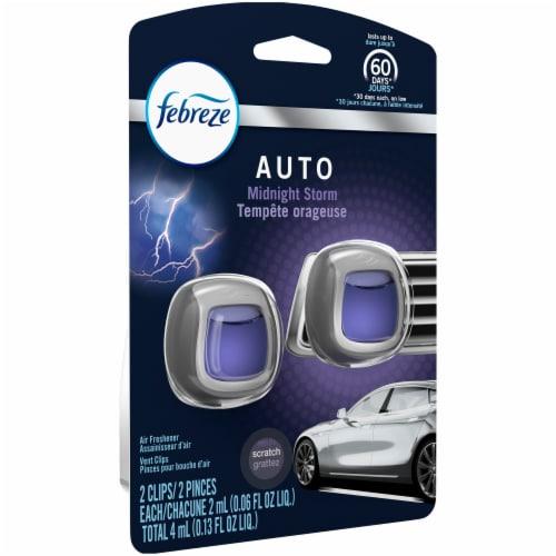 Febreze Auto Midnight Storm Air Freshener Car Vent Clip Perspective: front