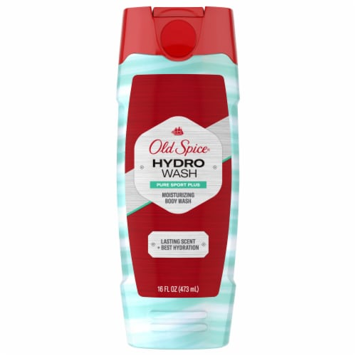 Old Spice Hydro Wash Pure Sport Plus Hydrating Body Wash for Men Perspective: front