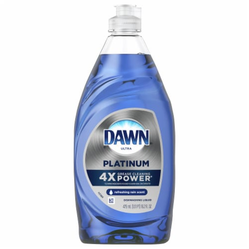 Dawn Ultra Refreshing Rain Scent Platinum Dishwashing Liquid Perspective: front