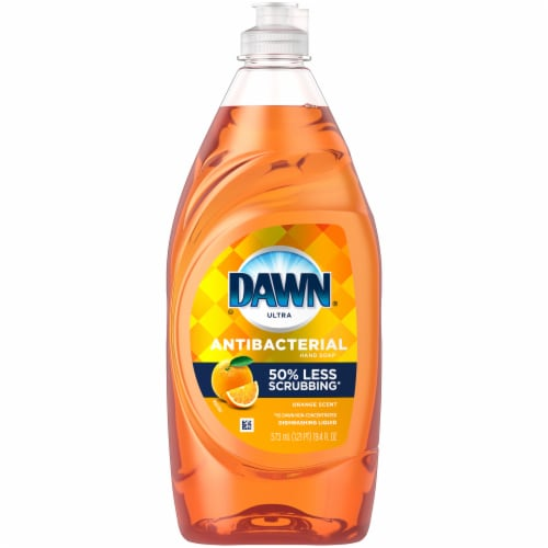 Dawn Ultra Orange Scent Antibacterial Dishwashing Liquid Perspective: front