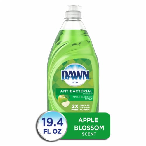 Dawn Ultra Antibacterial Dishwashing Liquid Dish Soap Apple Blossom Scent Perspective: front