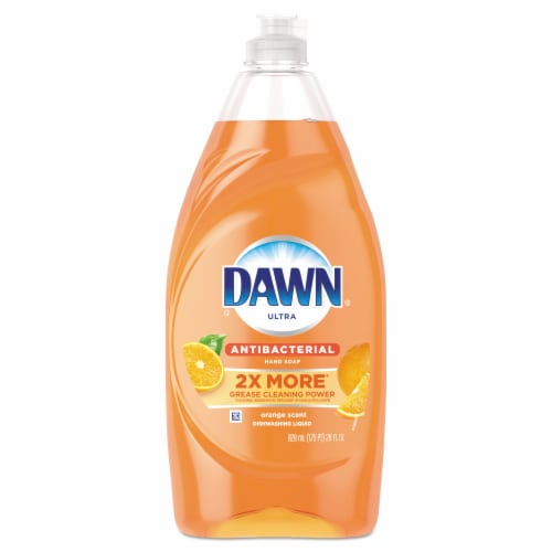 Dawn Ultra Orange Scent Antibacterial Dishwahing Liquid Perspective: front