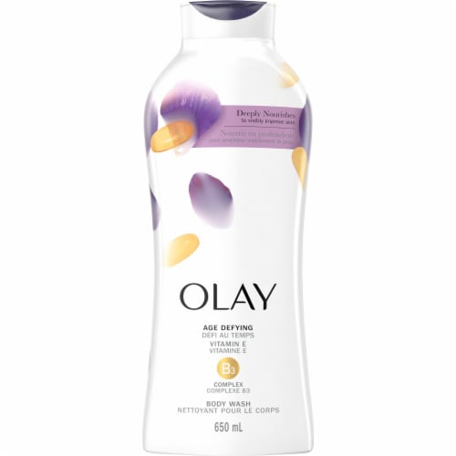 Olay Age Defying Body Wash for Women with Vitamin E Perspective: front