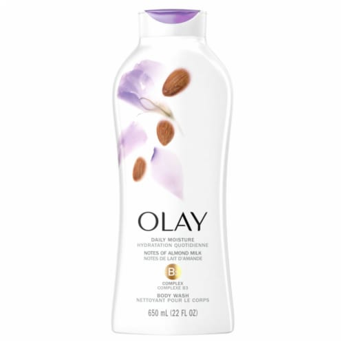 Olay Hydrating Clean Almond Milk Body Wash for Women Perspective: front