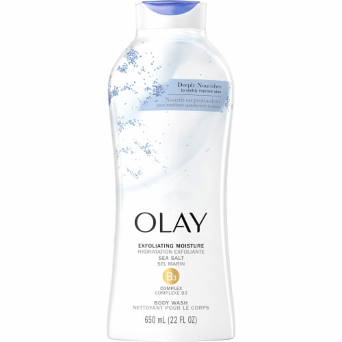 Olay Exfoliating Body Wash with Sea Salts for Women Perspective: front
