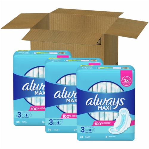 Always® Size 3 Extra Long Super Maxi Pads Perspective: front