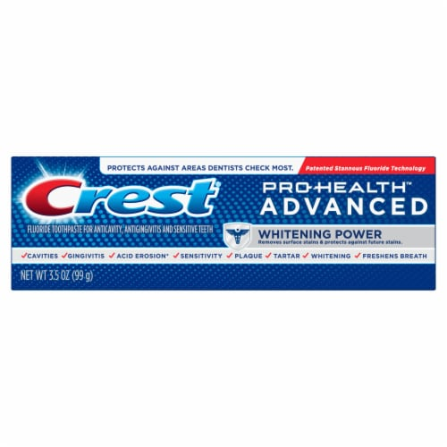 Crest Pro-Health Toothpaste Advanced Whitening Power Perspective: front