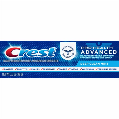 Crest Pro-Health Advanced Deep Clean Mint Fluoride Toothpaste Perspective: front