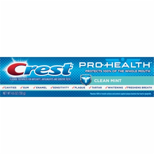 Crest Pro-Health Toothpaste Smooth Formula Clean Mint Paste Perspective: front